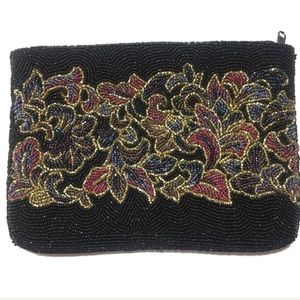 La Regale Beaded Clutch Purse or Makeup Bag